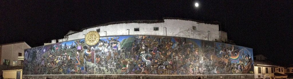 "Mural on Av El Sol. During the walk ""home"" from the doctor visit."